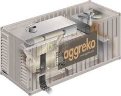 Cutaway of showing a containerized Aggreko G3+ generator set