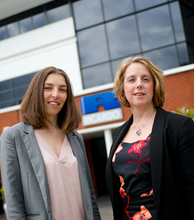 Ricardo engineers Angela Johnson (left) and Yvonne Paige-Stimson (right) are featured in Autocar's list of the '100 most influential British women in the car industry'
