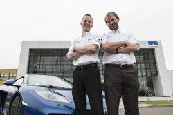 Ben Hassett (L) and Richard Cottrell (R) - first drivers on the Ricardo100 Global Challenge