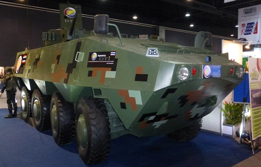 Black Widow Spider 8x8 concept on display at the Defence & Security 2013 exhibition, Bangkok