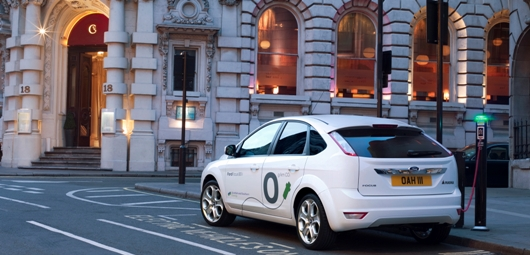 The research project will examine consumer attitudes and response to plug-in vehicles such as Ford's Focus EV (pictured)