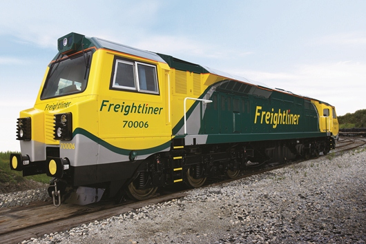 GE Transportation's Class 70 locomotive fitted with its four-stroke PowerHaul® engine