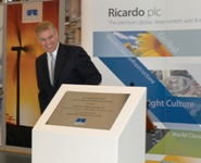 HRH The Duke of York formally dedicating the Sir Harry Ricardo Low Carbon Technology Centre