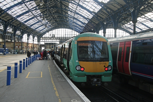 The patchwork nature of electrification of the GB rail network means that a large proportion of rail routes are served using diesel traction - such as the Ashford International to Brighton service (pictured) which starts and finishes over electrified lines but requires DMU stock due to its routing
