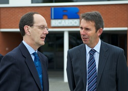 L-R CBI director general John Cridland and Ricardo manufacturing director Mark Barge