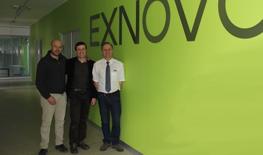 L-R EXNOVO co-founders Massimo Cipriani and Massimo Lotti with Paul Etheridge of Ricardo