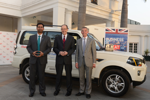 Left to right: Ricardo India president Mayank Agochiya, British High Commissioner to India Sir James Bevan KCMG, Ricardo COO Mark Garrett