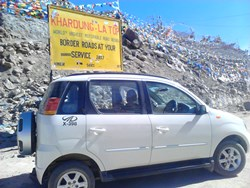 The autoSHIFT equipped Mahindra Quanto was tested under extreme conditions, including the gradients and temperatures found at Khardung La, the world's highest road open to motor traffic.