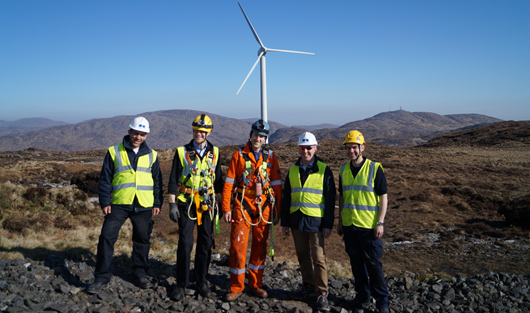 MultilifeTM installation team (left to right): Dalil Benchebra (Ricardo), Tom Howard (University of Sheffield), David Ferguson (University of Strathclyde), and John Stanton and David Hawke (Ricardo)
