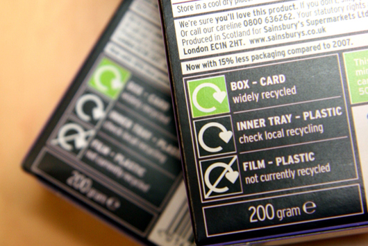 Example On-Pack Recycling Label