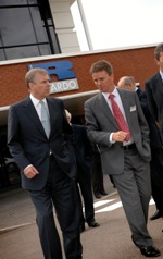 Ricardo CEO Dave Shemmans (right) with HRH The Duke of York at dedication of the Sir Harry Ricardo Low Carbon Technology Centre