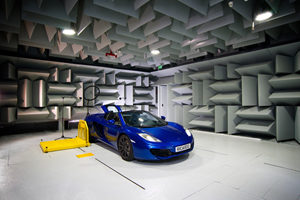 Ricardo's VATF has be installed with a new 344 kW chassis dynamometer, vastly expanding the range of vehicles that can be tested in the facility - the original anechoic cell 'wedges' have been completely stripped out and replaced with the latest Metadyne wedges, which are more durable and conform to the latest international standards