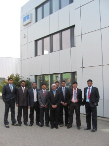 Sharda engineers during a training visit to the Ricardo technical centre at Schwäbisch Gmünd in southern Germany