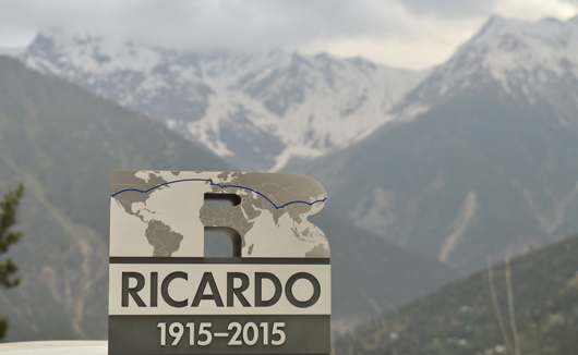 The Ricardo100 baton in the Himalayas