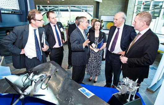 Kent Niederhofer explains Ricardo's UAV technology to Rt Hon Vince Cable MP