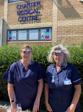 Staff at the Charter Medical Centre in Hove were among the first recipients of the Ricardo PPE