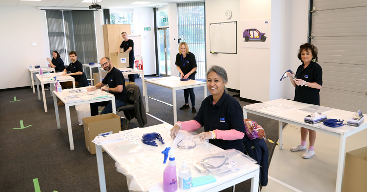 First deliveries of Ricardo-assembled PPE reach care homes and the NHS