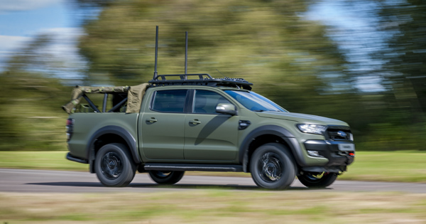 Ricardo demonstrates militarized version of Ford Ranger 2019