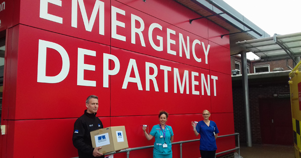 10,000 Ricardo-assembled PPE face shields delivered to frontline NHS and care homes