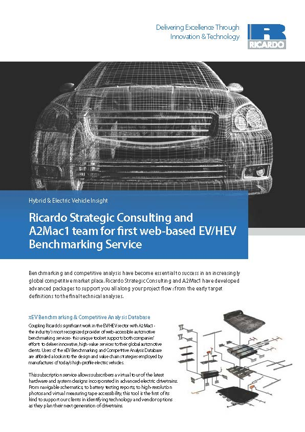 RSC and A2Mac1 team for first web-based EV/HEV Benchmarking Service