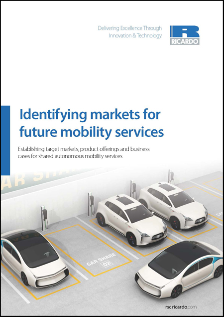 Identifying markets for future mobility services - Global