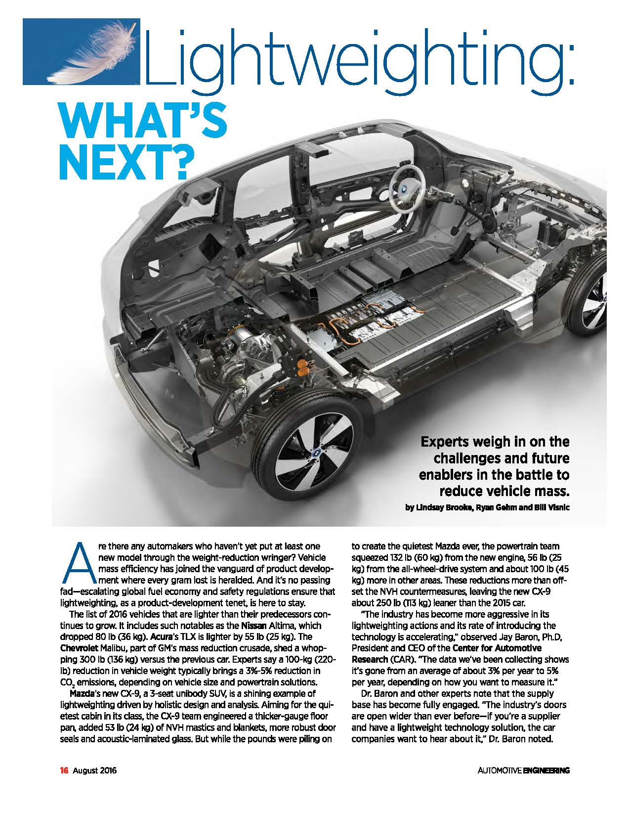 Lightweighting: What's Next?