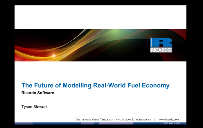 2016 Real-World Fuel Economy Modelling Webinar Download