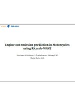 Engine out emission prediction in Motorcycles using Ricardo WAVE