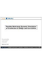 Flexible Multi-body Dynamic Simulation of Cranktrain in VALDYN