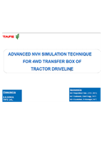 Advanced NVH Simulation Technique for 4WD Transfer Box of Tractor Driveline