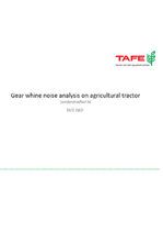 Gear whine noise analysis on agricultural tractor