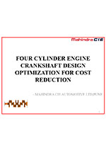 Four cylinder engine crankshaft design optimization for cost reduction