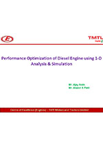 Performance Optimization of Diesel Engine using 1-D Analysis and Simulation