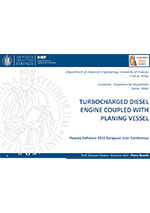Turbocharged Diesel Engine coupled with Planing Vessel