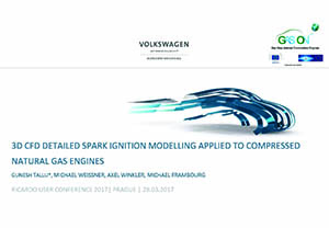 3D CFD detailed spark ignition modelling applied to compressed natural gas engines