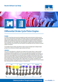 Differential Stroke Cycle Piston Engine